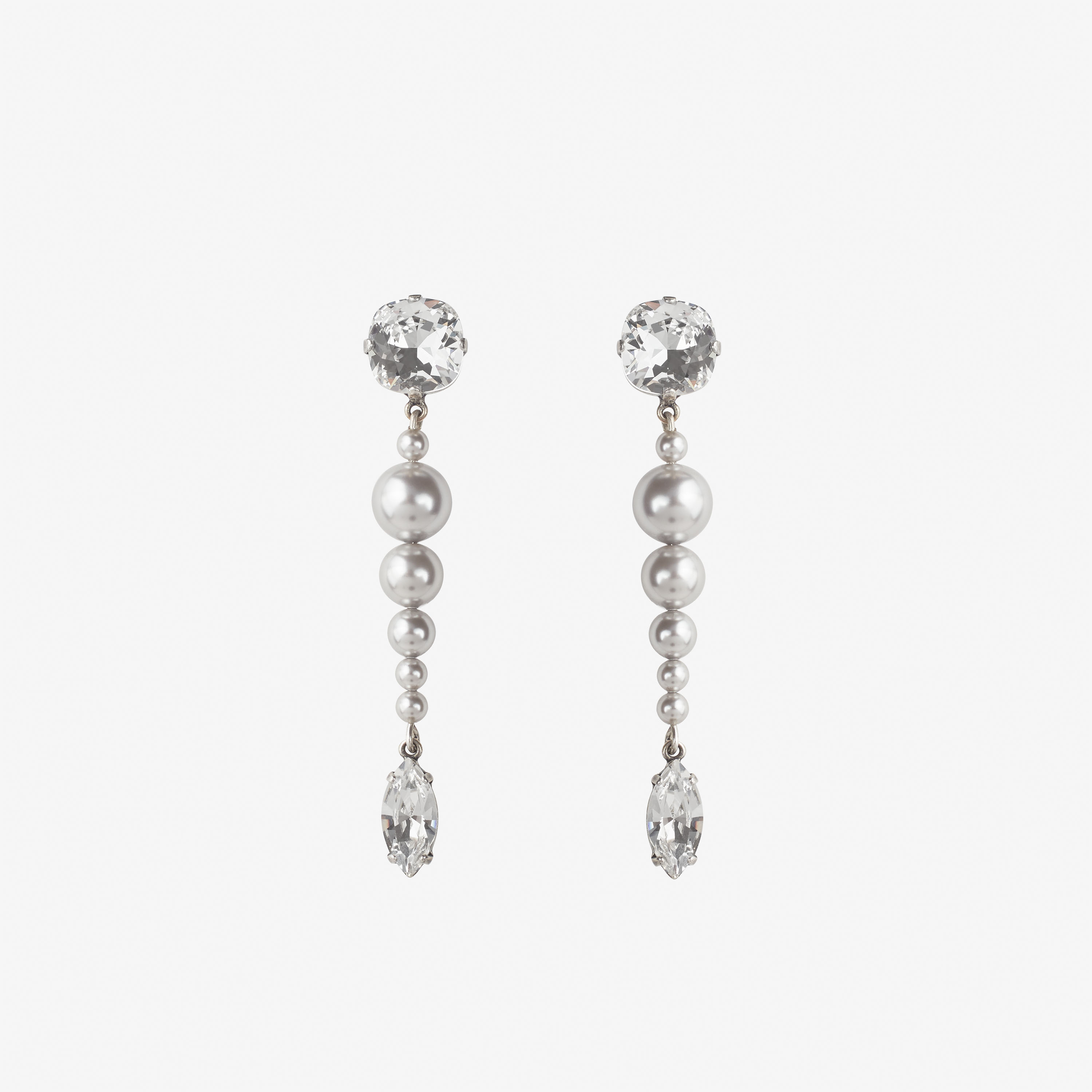 Laimushka fashion jewelry earrings with swarovski pearls and crystals
