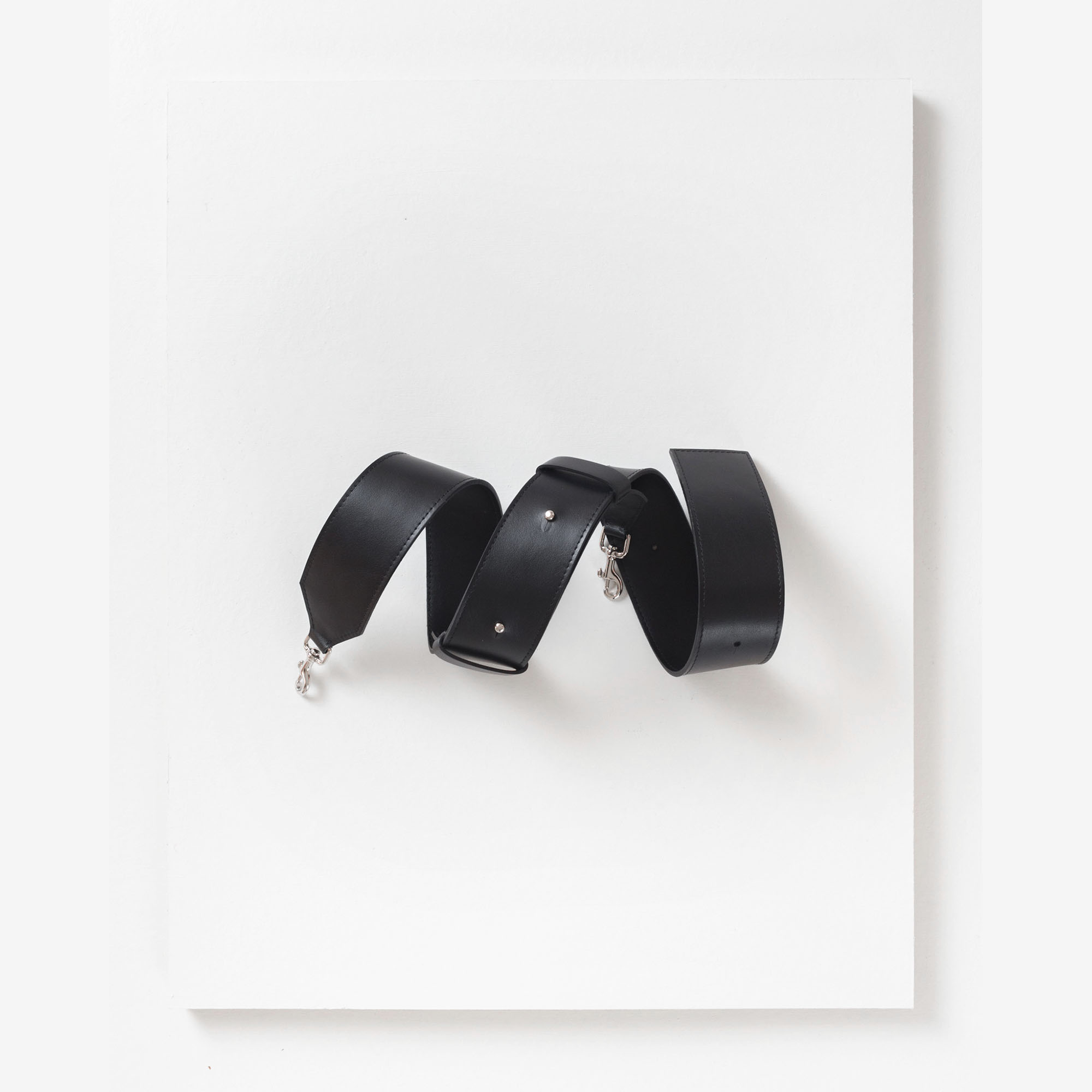 Laimushka black leather detachable handbag strap
